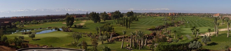 Panorama du golf de l'Atlas.