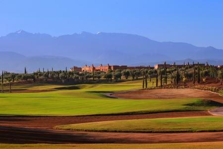 Bunker, Atlas et resort sur le parcours de golf Ourika à Marrakech au Maroc