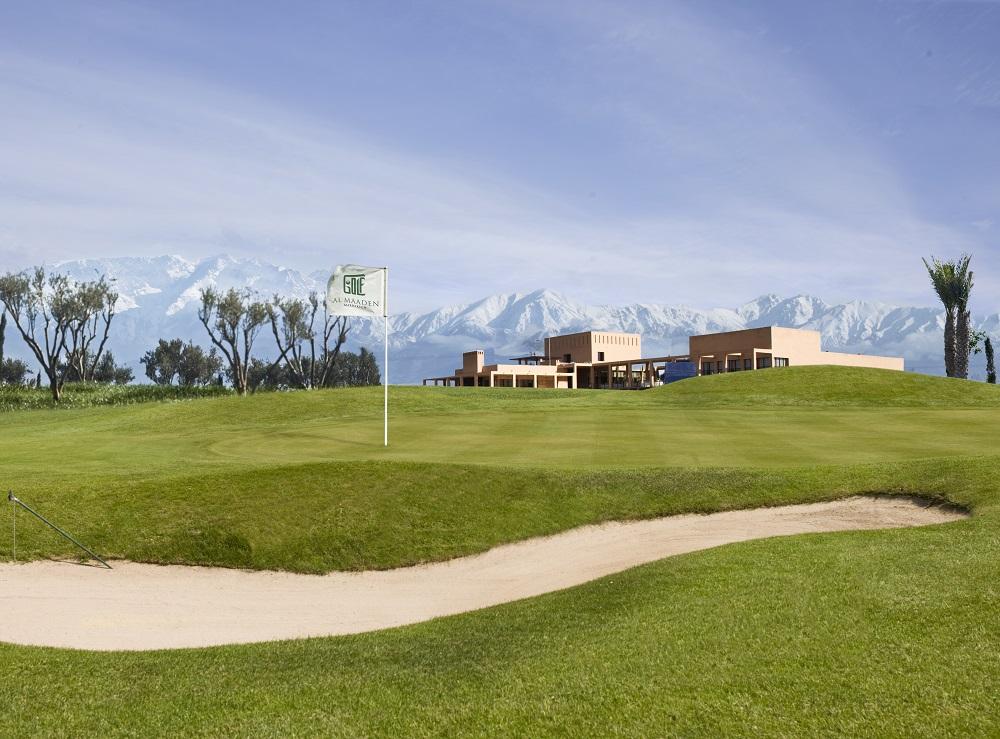 La vue de l'Atlas du golf d'Al Maaden.