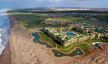 vue aerienne du mazagan beach resort