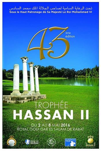 Affiche du Trophée Hassan II sur le parcours de golf du Royal Dar Es Salam