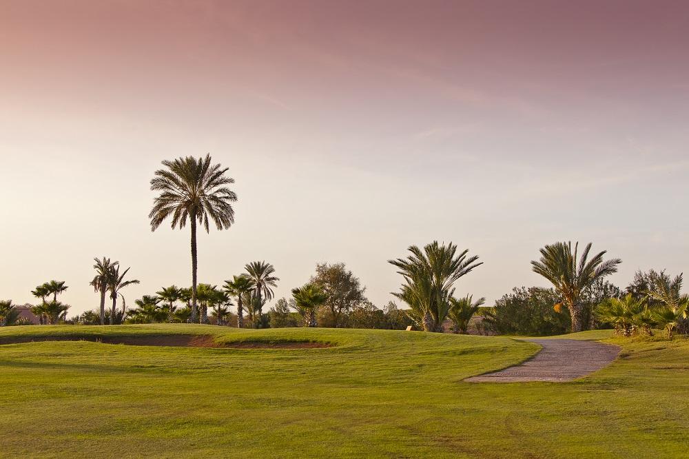 Golf de La palmeraie dans la région de Marrakech